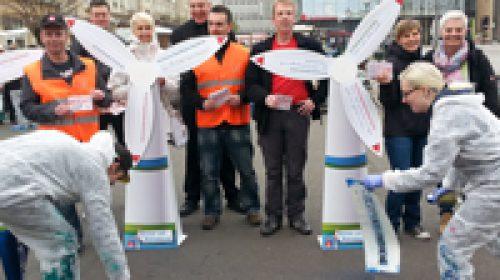 Für Soziale Gerechtigkeit – Aktion in Magdeburg