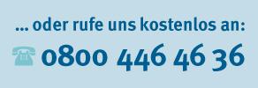 Telefon-Hotline 0800 446 46 36