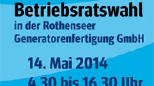 Die Beschäftigten der Rothenseer Generatorenfertigung GmbH leiten ihre Betriebsratswahl ein