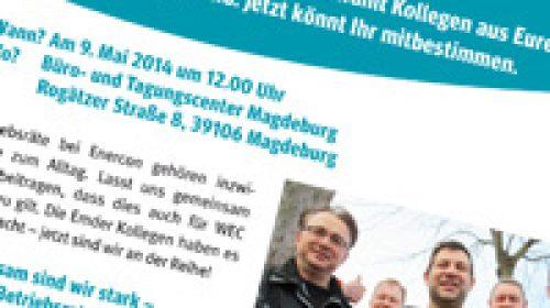 Letzte Infos zur Wahlversammlung bei der WEC Turmbau GmbH in Magdeburg
