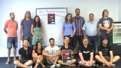 Solidaritätsvideo aus dem 25. Trainee-Lehrgang