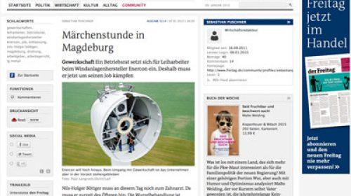 Zeitungsartikel auf www.freitag.de Märchenstunde in Magdeburg
