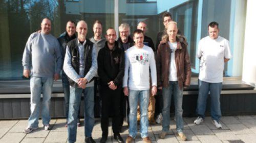 Erste Betriebsversammlungder WEC Turmbau GmbH Magdeburg