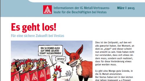 Neues Vestas Infoblatt ist da