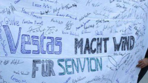 Demo gegen Senvion Standortschließung in Husum