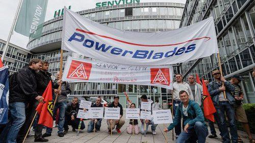 Senvion: Rund 300 Beschäftigte beteiligten sich an Kundgebung in Hamburg