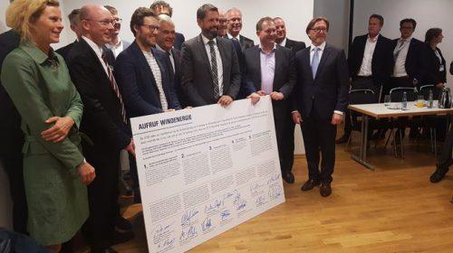Norddeutsche Bundesländer, Verbände und IG Metall Küste unterzeichnen Aufruf Windenergie